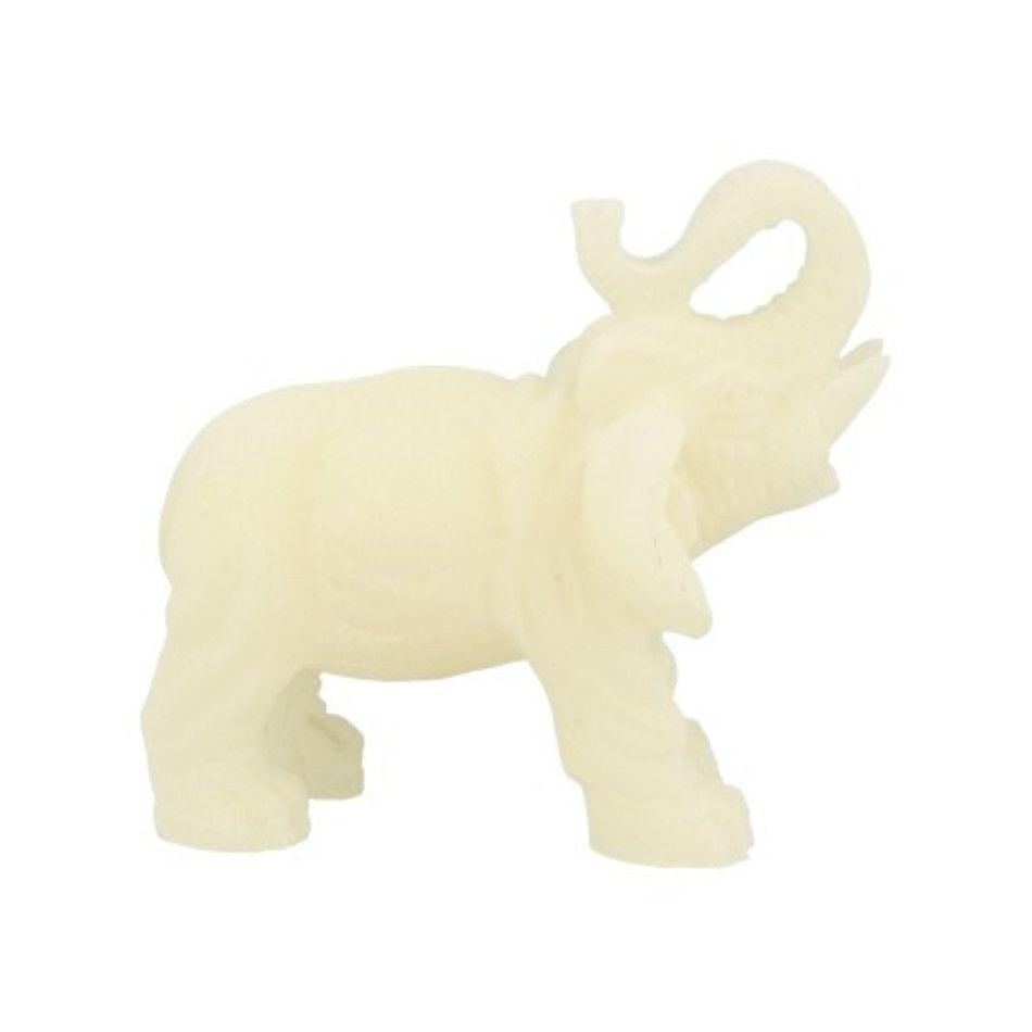Sneeuwkwarts beeldje olifant 11 cm