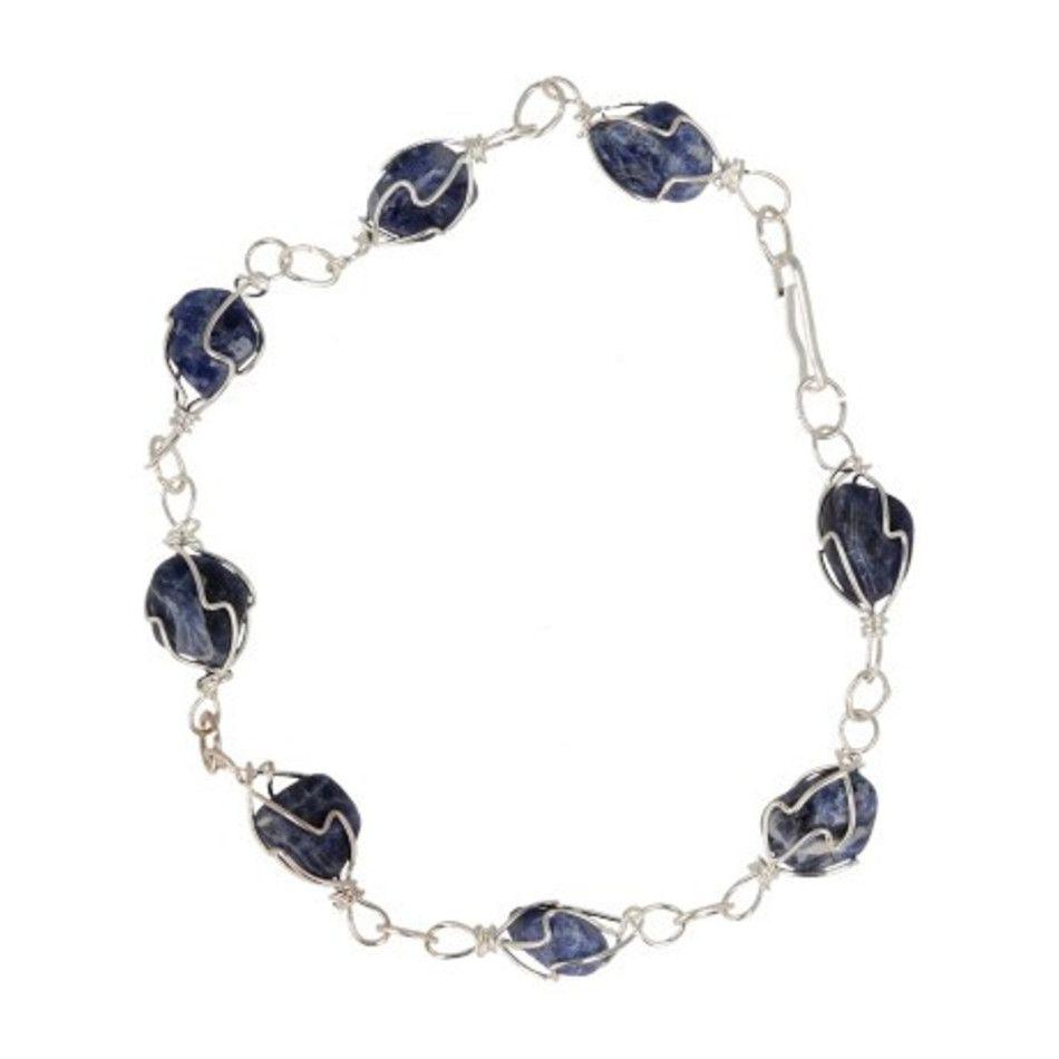 Sodaliet armband / enkelband edelsteen wire