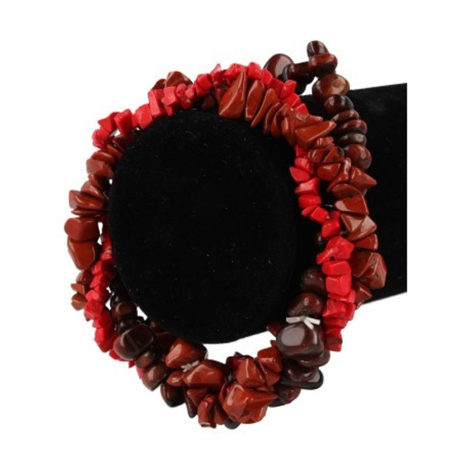 Splitarmband combi rood