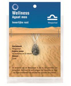 Sterrenbeeldhanger Weegschaal (Agaat mos)