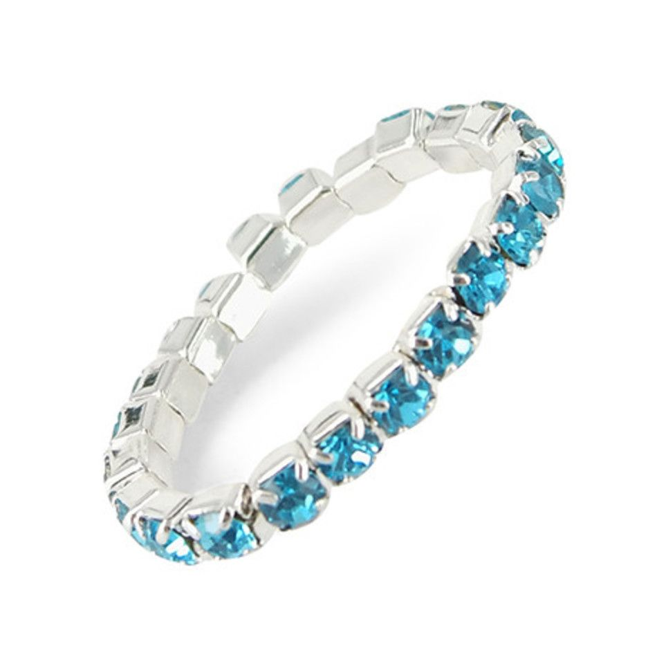 Stretch ring blauw
