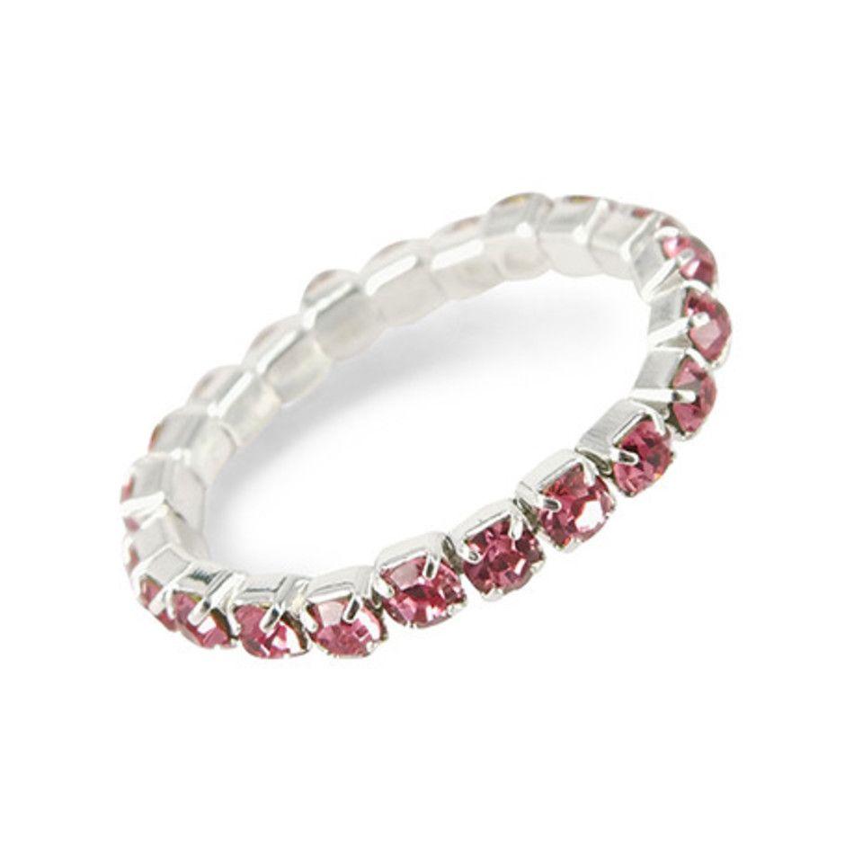 Stretch ring roze