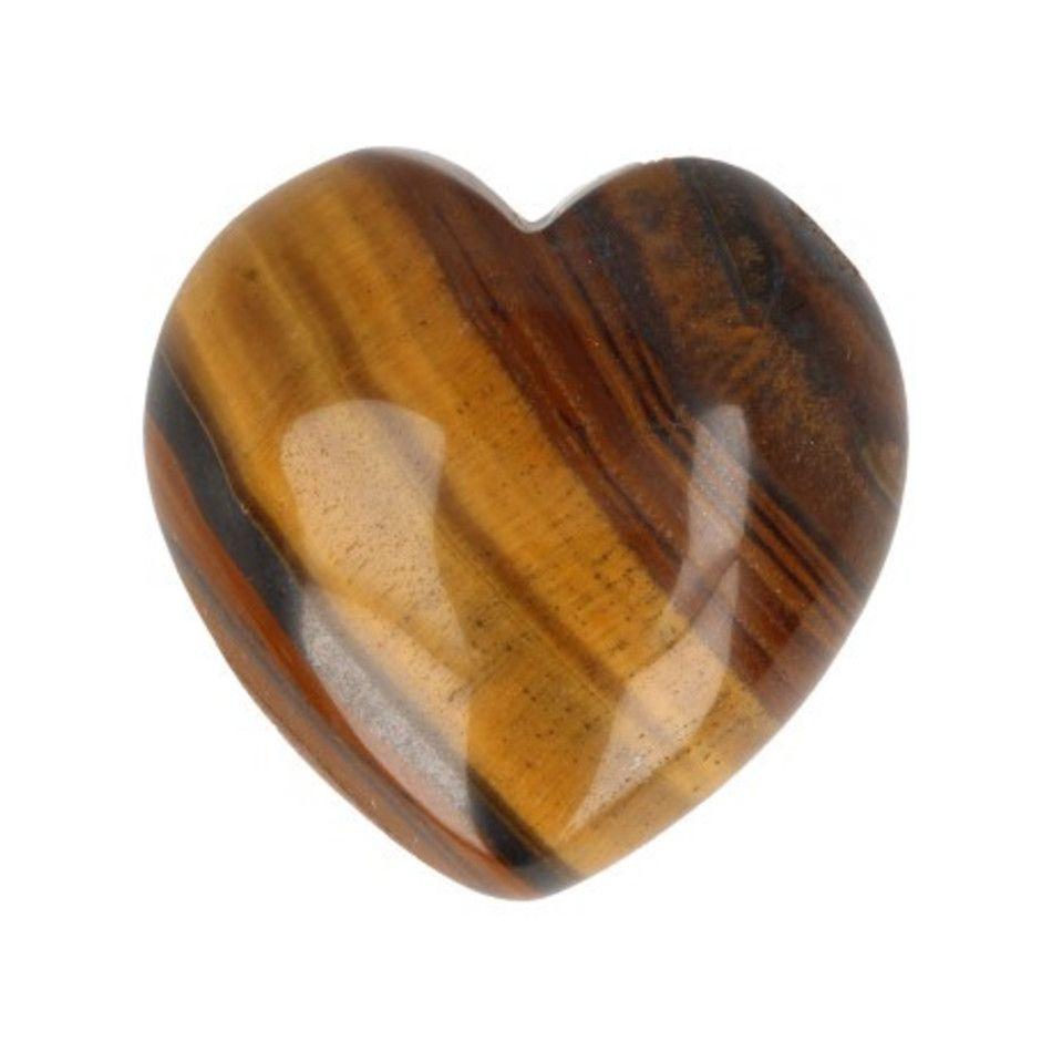 Tijgeroog hart 30 mm edelsteen