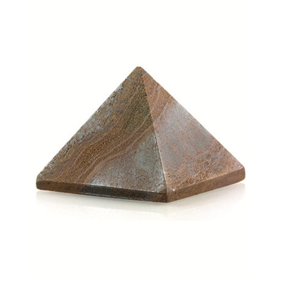 Tijgeroog piramide 30 mm edelsteen