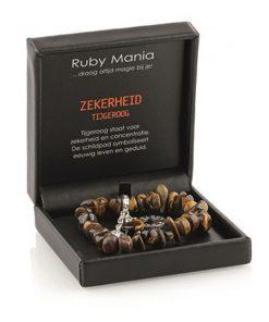 Tijgeroog Ruby Mania, armband nr 16 nugget