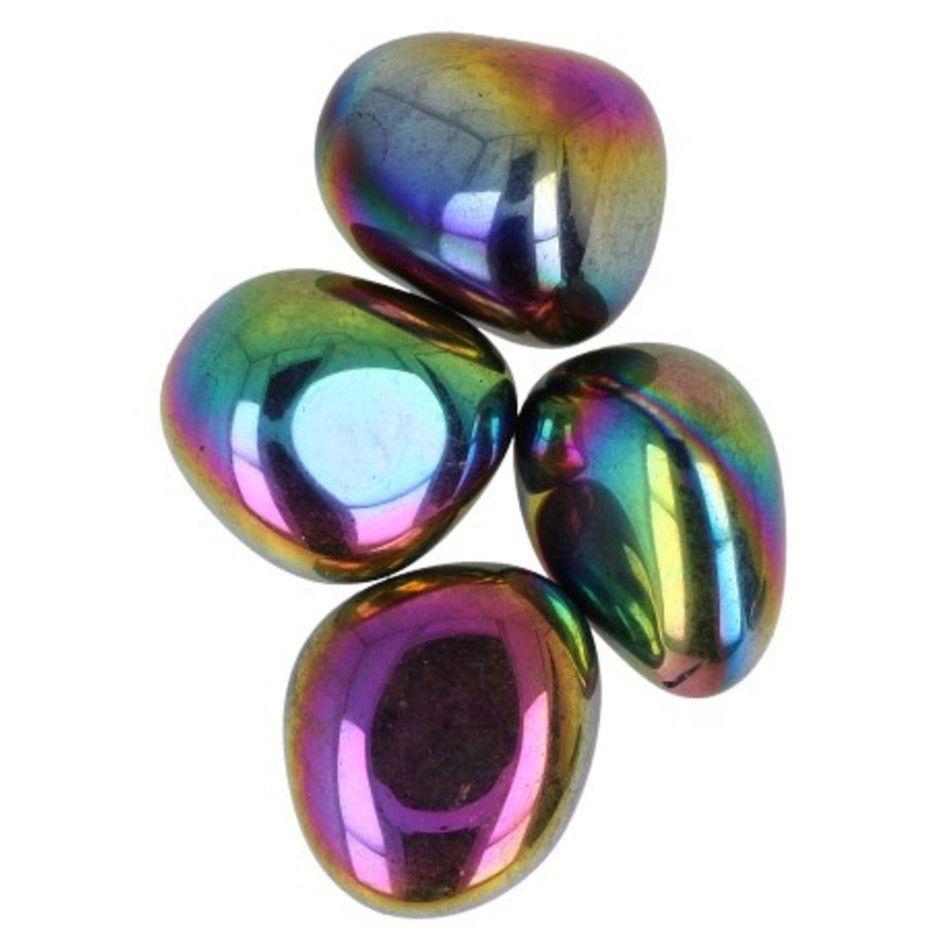Titanium Aura 50 gr. trommelstenen (mt3)