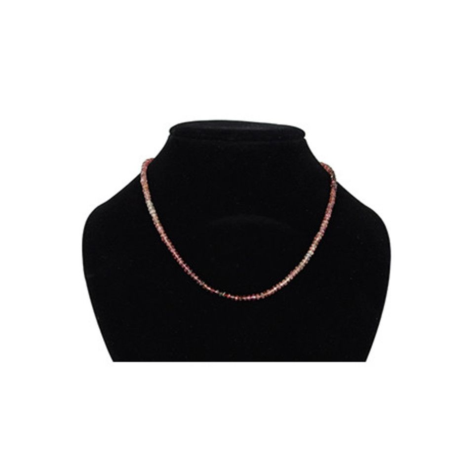 Toermalijn roze collier 3 mm facet