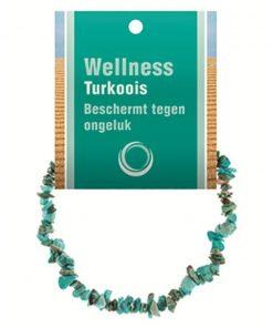 Turkoois natuur splitarmband + kaart