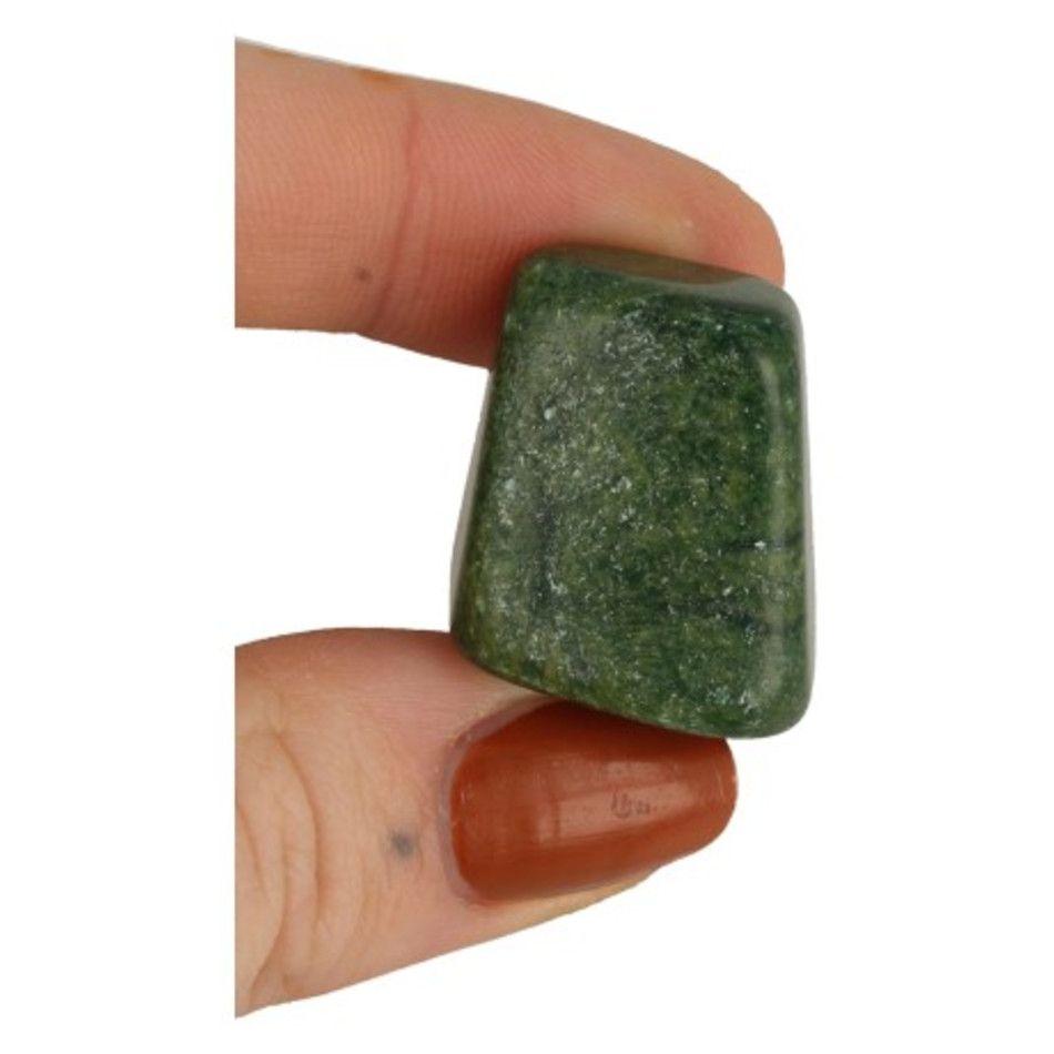 Verdiet 1 st. trommelstenen (Afr. Jade)