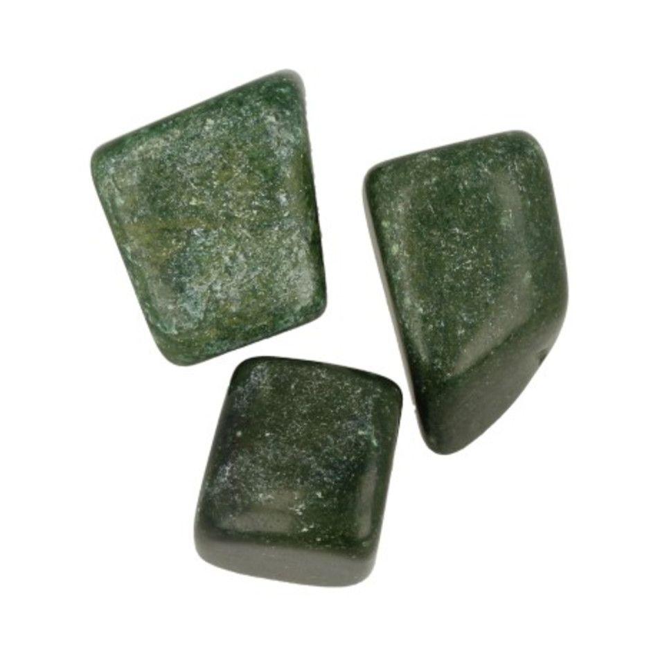 Verdiet 3 st. trommelstenen (Afr. Jade)