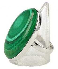 Zilveren ringen Malachiet, per gram
