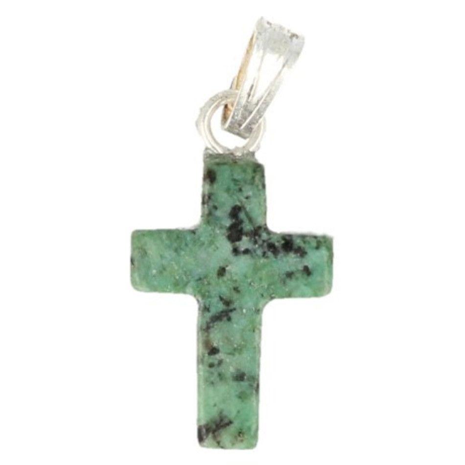 Zoisiet kruis hanger 14 mm
