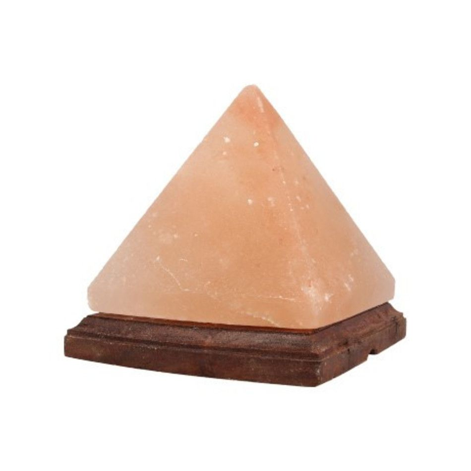 Zoutsteen lamp Piramide
