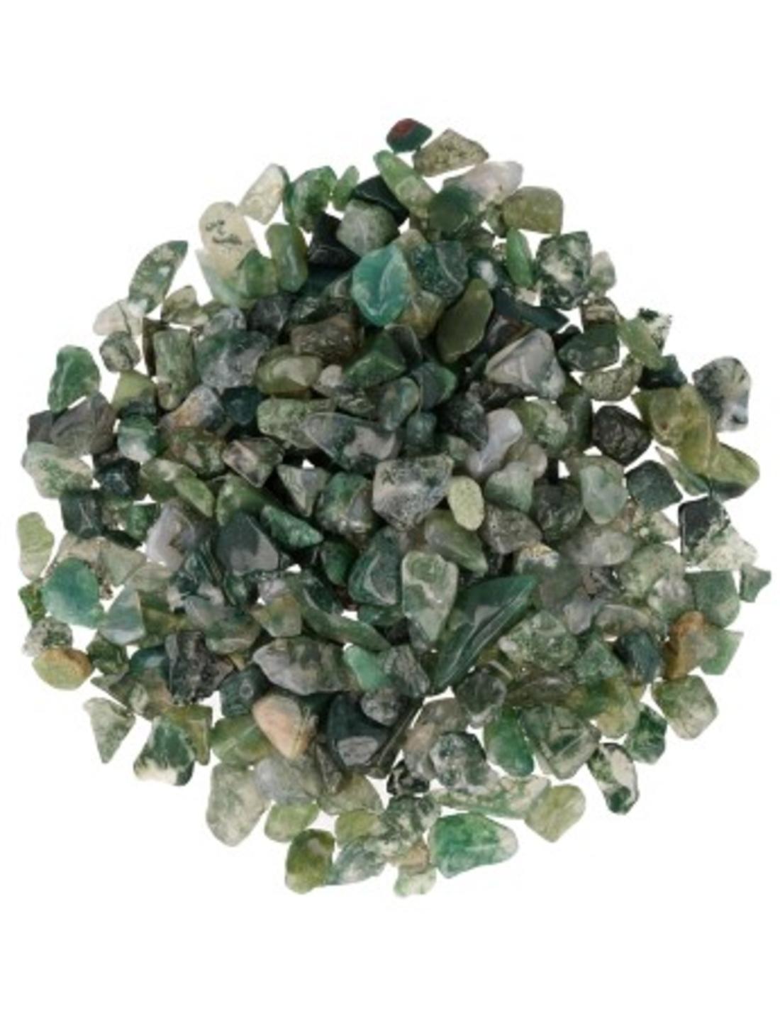 Agaat mos 250 gr. trommelstenen (mt1)