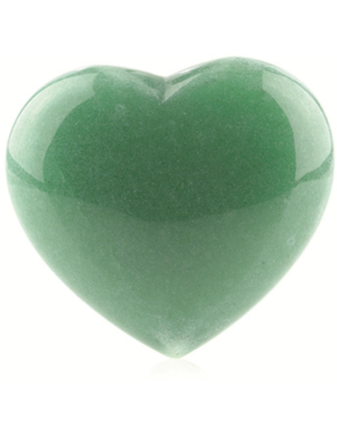 Aventurijn groen edelsteen hart 25 mm