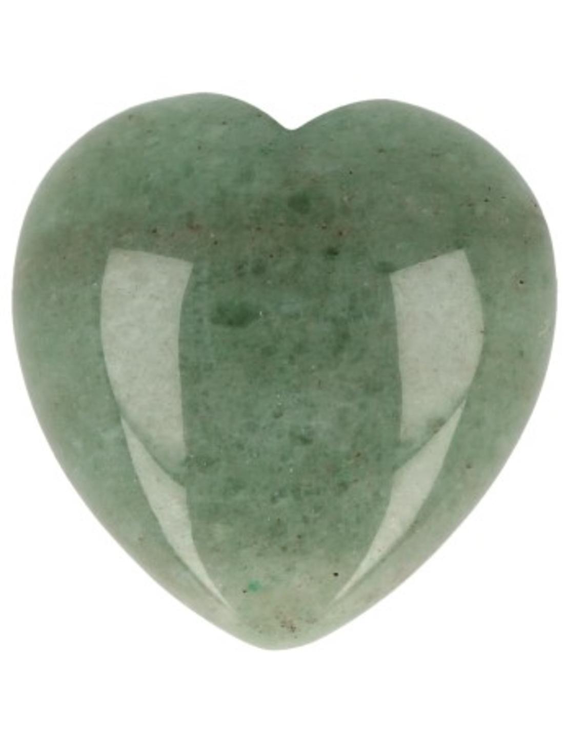 Aventurijn groen edelsteen hart 30 mm