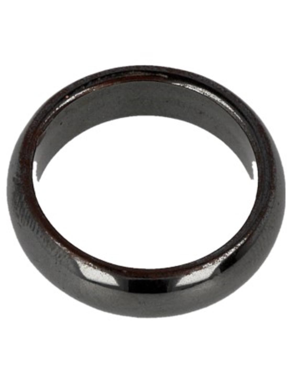 Hematiet edelsteen ring 6 mm - 20