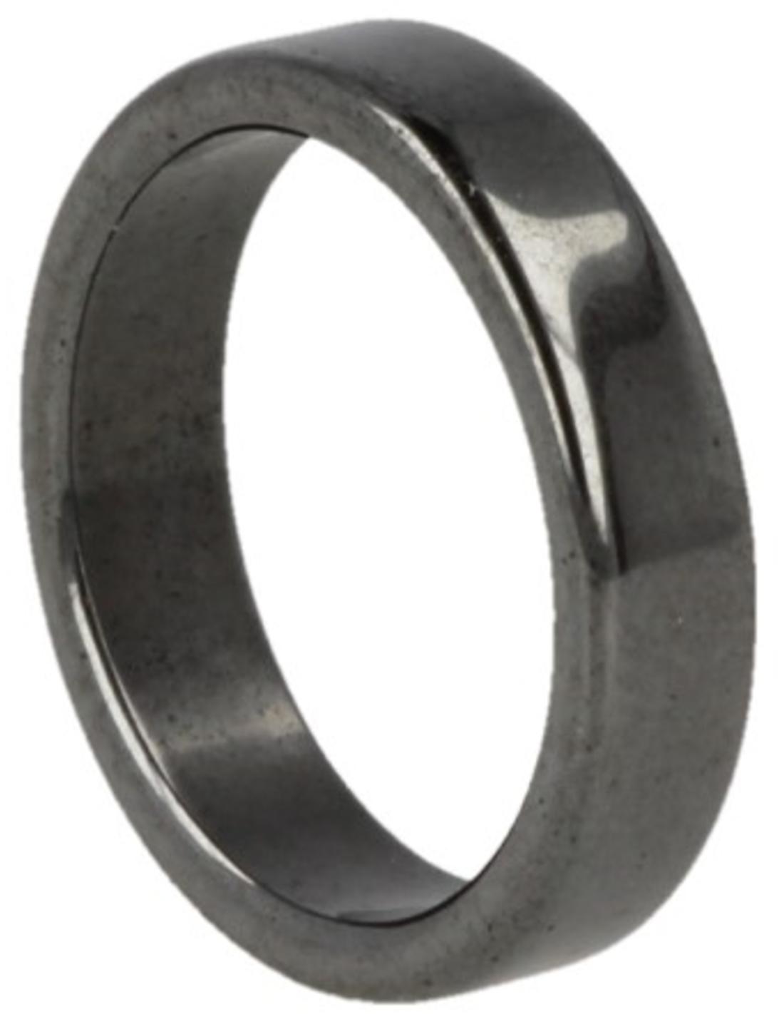 Hematiet edelsteen ring plat 5 mm - 18