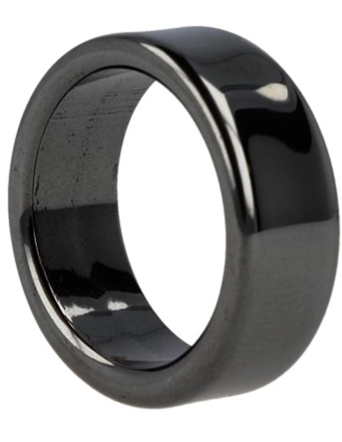 Hematiet edelsteen ring plat 8 mm - 17