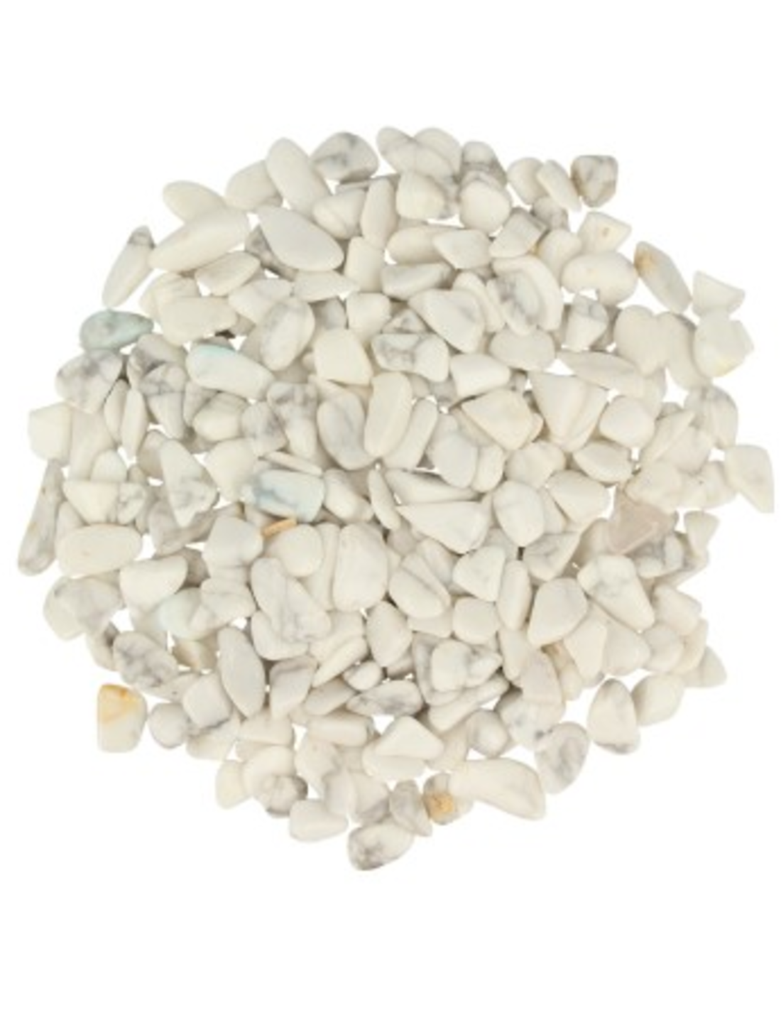 Howliet wit 100 gr. trommelstenen (mt1)