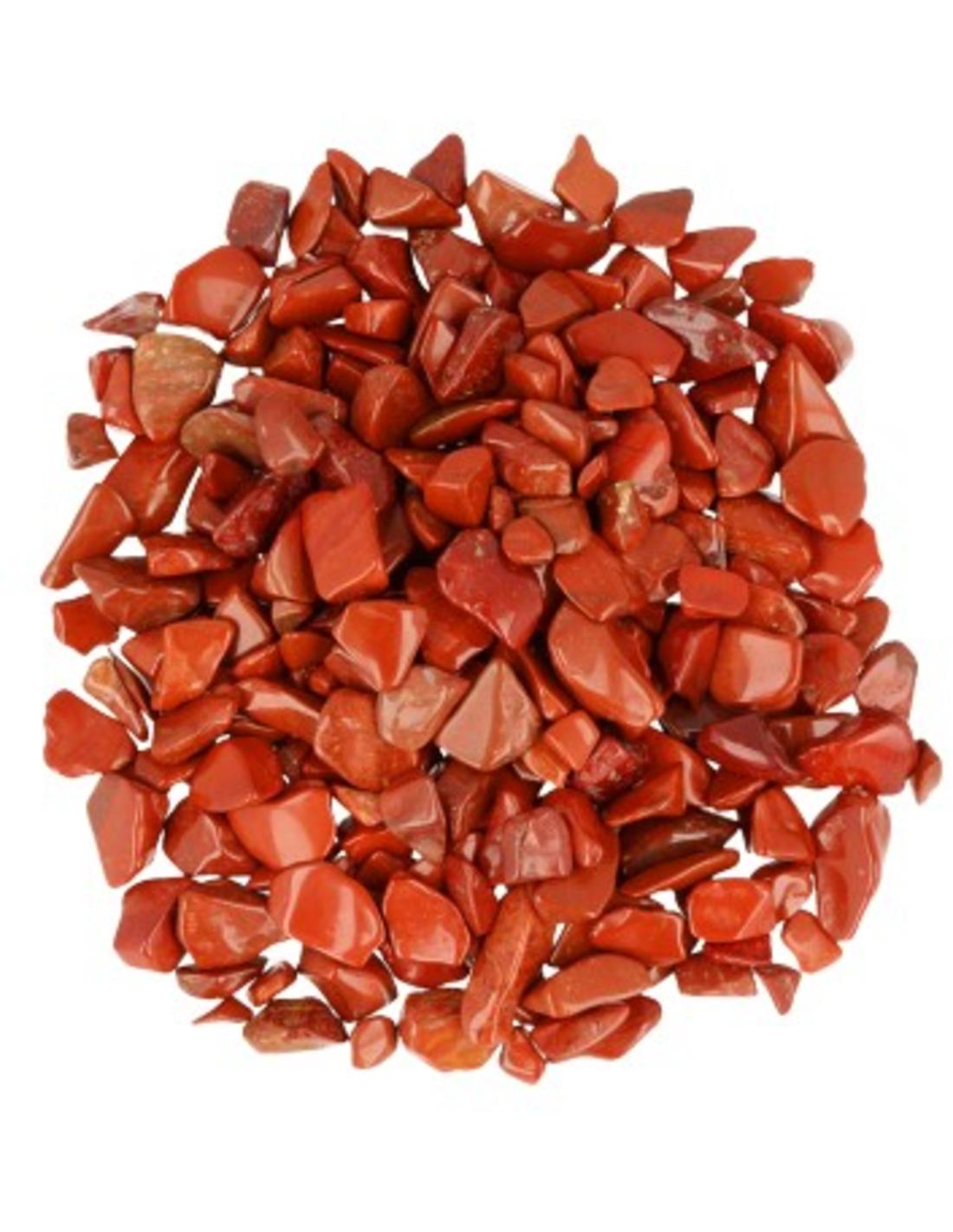 Jaspis rood 250 gr. trommelstenen (mt1)