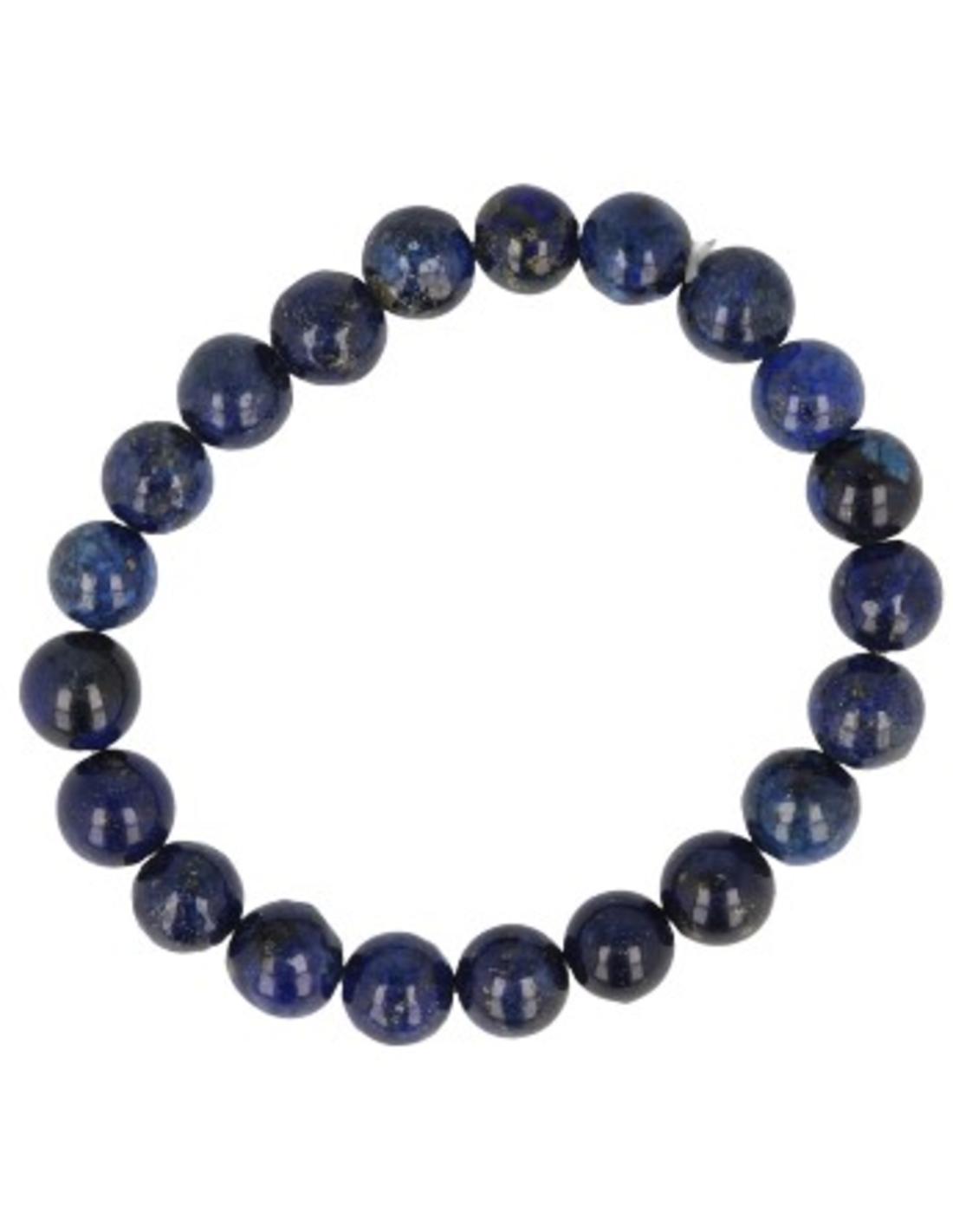 Lapis Lazuli kralenarmband 8 mm (bijgekleurd)