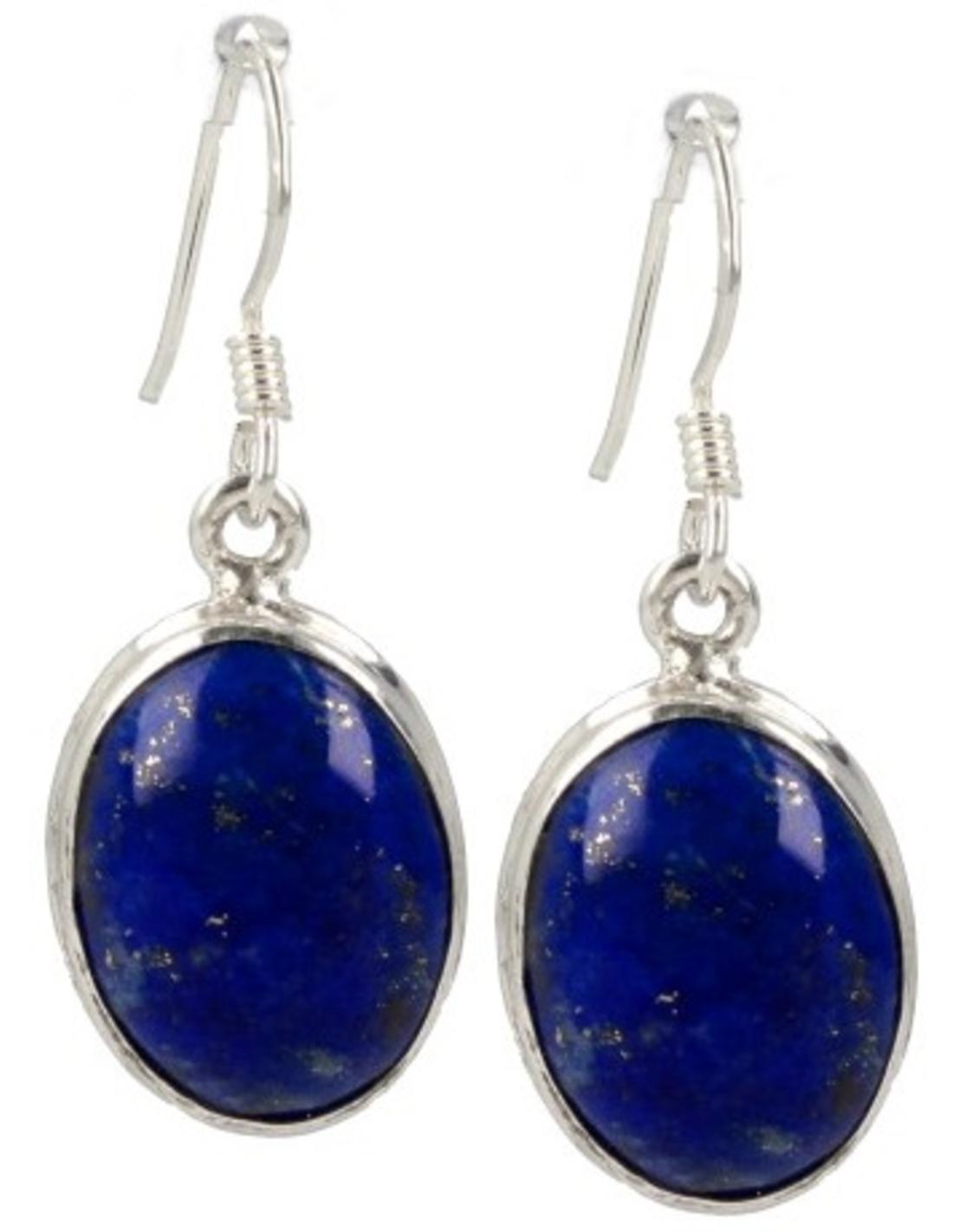 Lapis Lazuli zilveren oorbellen ovaal
