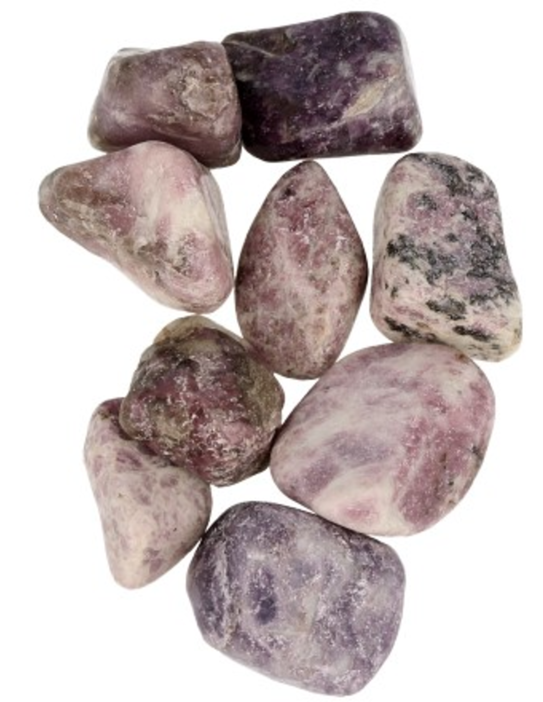 Lepidoliet 100 gr. trommelstenen (mt3)