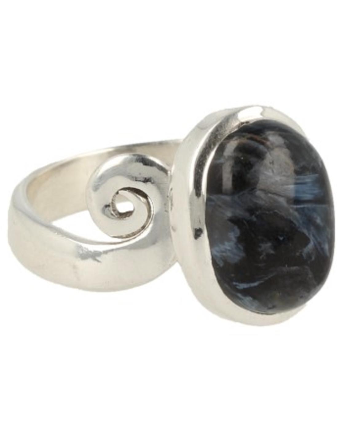Pietersiet ring zilver - verstelbaar