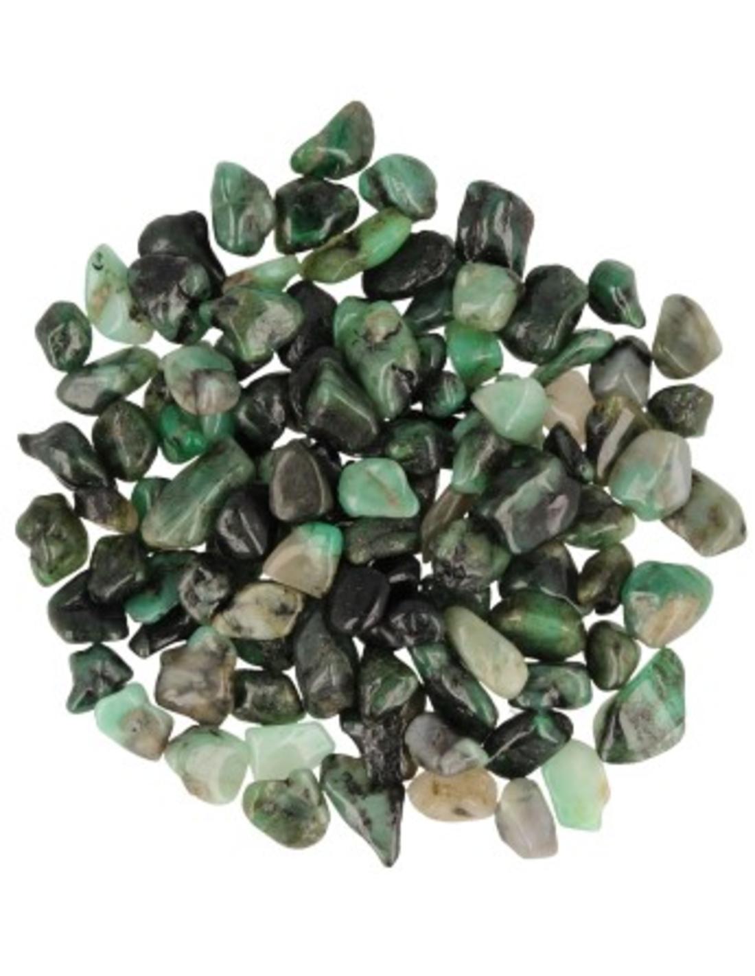 Smaragd 50 gr. trommelstenen (mt1)