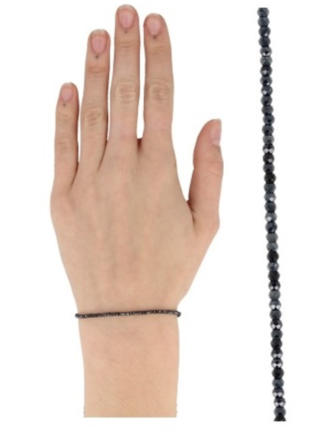 Spinel zwart met coating summer vibes armband