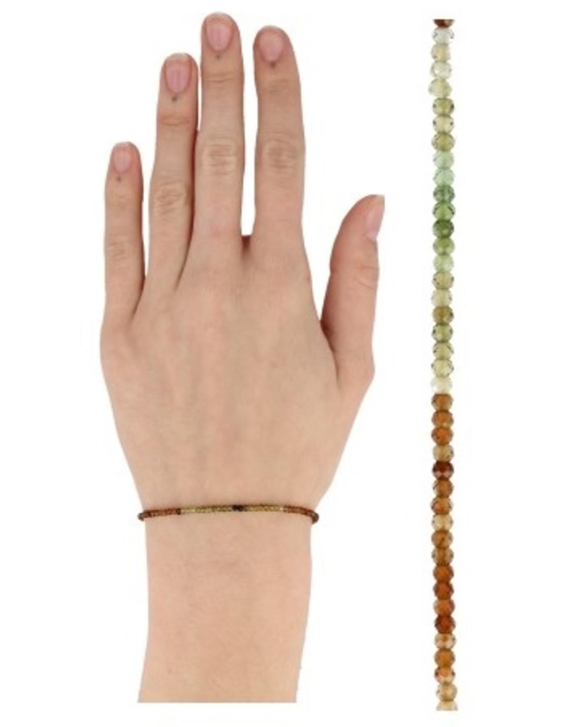Toermalijn oranje summer vibes armband