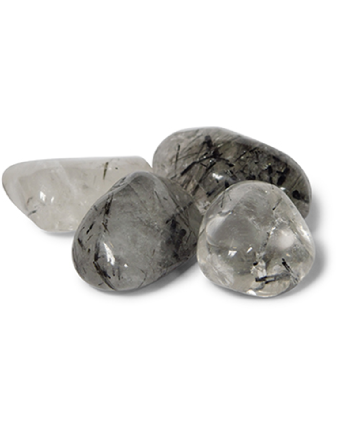 Toermalijnkwarts 3 st. trommelstenen (mt3)