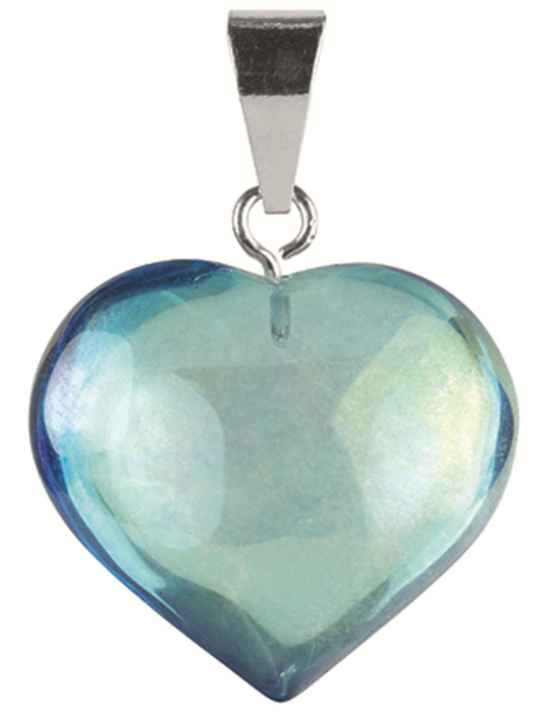Aqua aura hart hanger (gecoat)