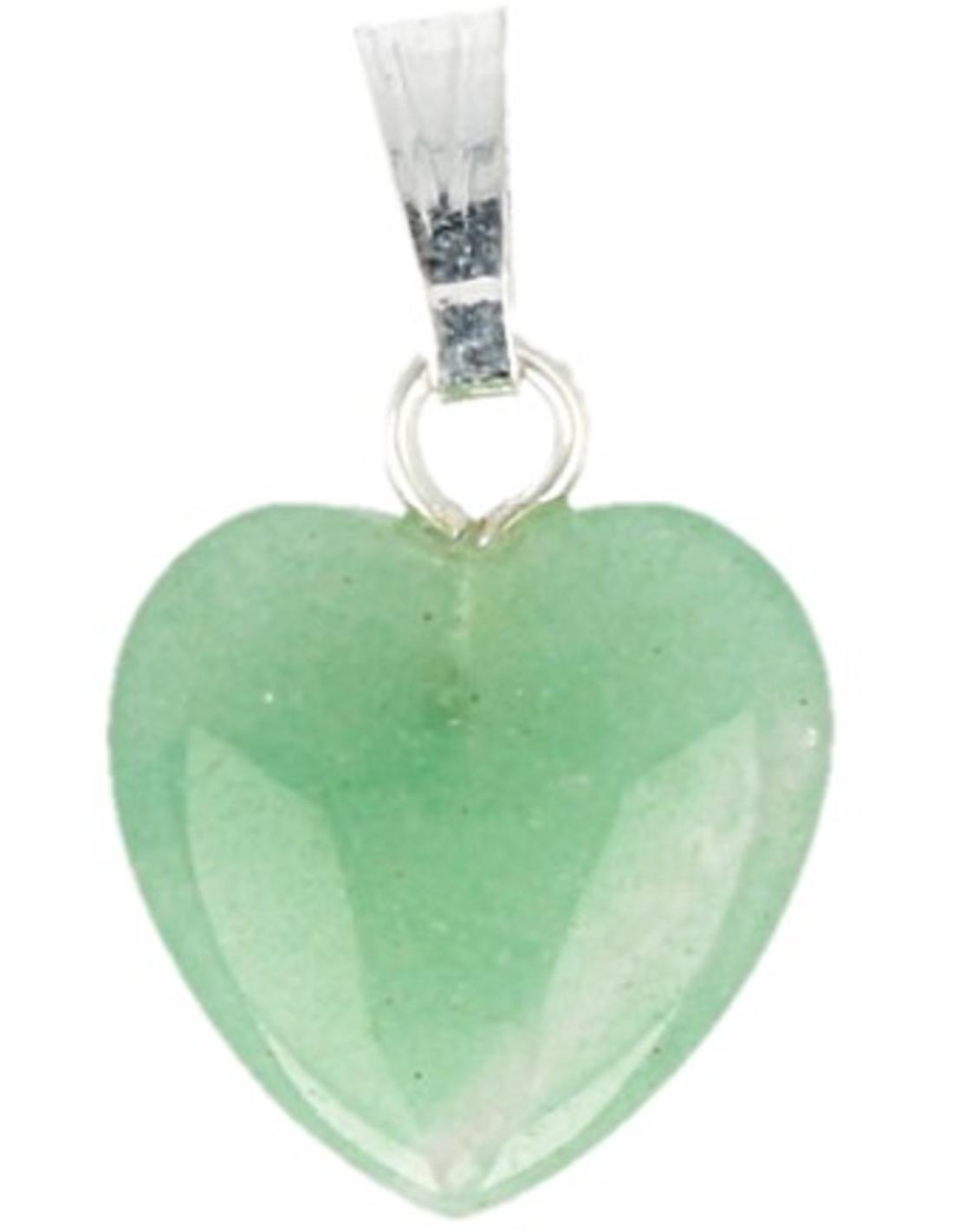 Aventurijn groen hart hanger 12 mm