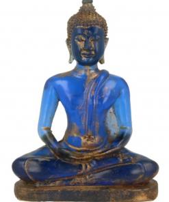 Boeddha klein blauw