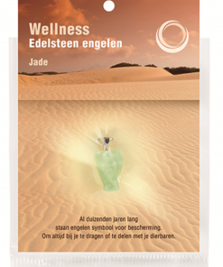 Engelen hanger + kaart Jade