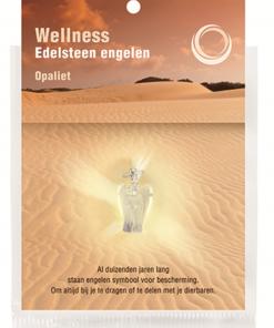 Engelen hanger + kaart Opaliet (synth)