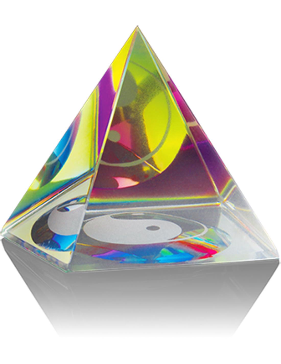 Feng shui piramide 60 mm, yin yang