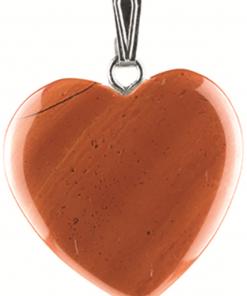 Jaspis rood hart hanger 20 mm