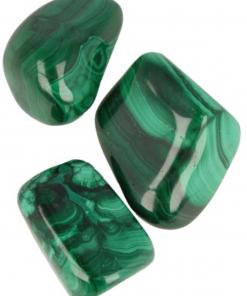 Malachiet 3 st. trommelstenen (2-3 cm)