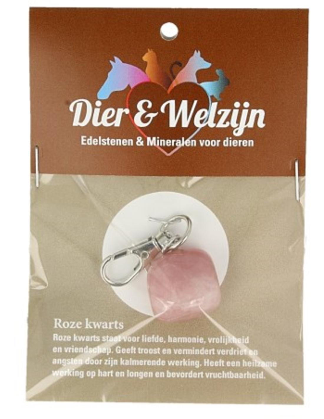 Rozenkwarts halsband hanger Dier & Welzijn
